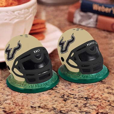 South Florida Helmet Ceramic Salt and Pepper Shakers