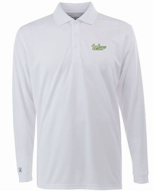South Florida Mens Long Sleeve Polo Shirt (Color: White)