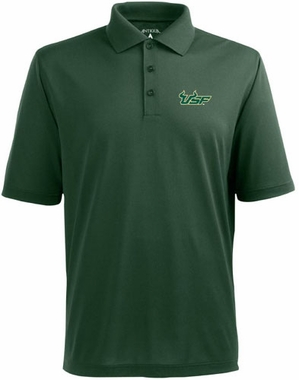 South Florida Mens Pique Xtra Lite Polo Shirt (Team Color: Green)