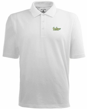 South Florida Mens Pique Xtra Lite Polo Shirt (Color: White)