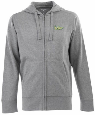 South Florida Mens Signature Full Zip Hooded Sweatshirt (Color: Gray)