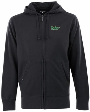 South Florida Mens Signature Full Zip Hooded Sweatshirt (Color: Black)