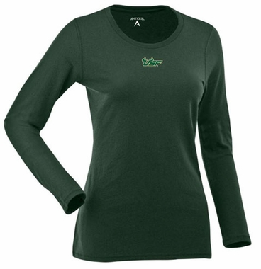 South Florida Womens Relax Long Sleeve Tee (Team Color: Green)