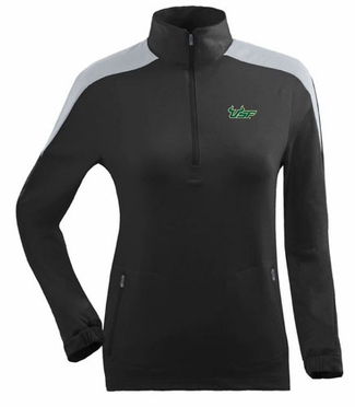 South Florida Womens Succeed 1/4 Zip Performance Pullover (Team Color: Black)