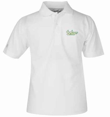 South Florida YOUTH Unisex Pique Polo Shirt (Color: White)