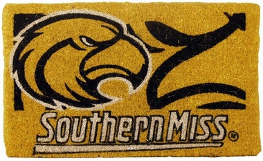 Southern Miss 18x30 Bleached Welcome Mat