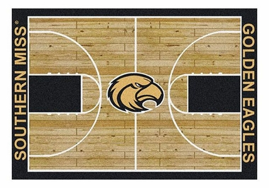 "Southern Miss 5'4"" x 7'8"" Premium Court Rug"