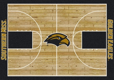 "Southern Miss 7'8"" x 10'9"" Premium Court Rug"