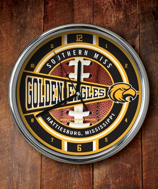 Southern Miss Chrome Clock