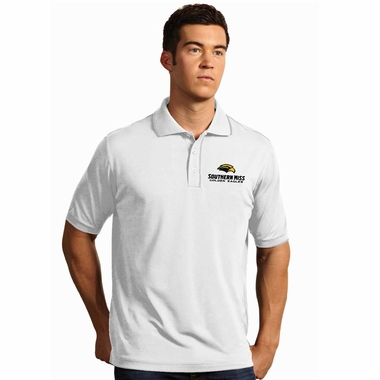 Southern Miss Mens Elite Polo Shirt (Color: White) - X-Large
