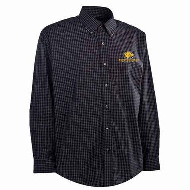 Southern Miss Mens Esteem Check Pattern Button Down Dress Shirt (Team Color: Black)