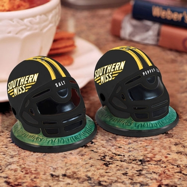Southern Miss Helmet Ceramic Salt and Pepper Shakers