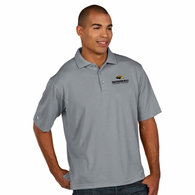 Southern Miss Mens Pique Xtra Lite Polo Shirt (Color: Gray)