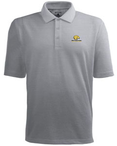 Southern Miss Mens Pique Xtra Lite Polo Shirt (Color: Gray) - Large