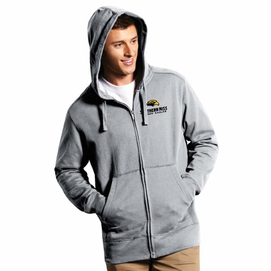Southern Miss Mens Signature Full Zip Hooded Sweatshirt (Color: Gray)