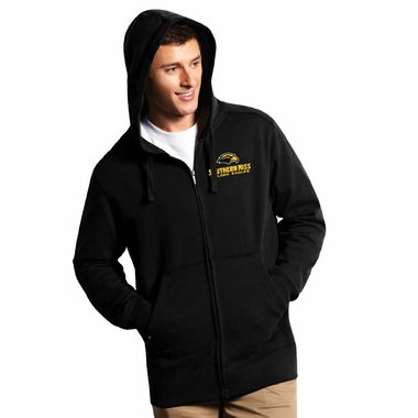 Southern Miss Mens Signature Full Zip Hooded Sweatshirt (Team Color: Black)