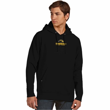 Southern Miss Mens Signature Hooded Sweatshirt (Team Color: Black)