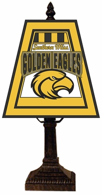 Southern Miss Small Art Glass Lamp