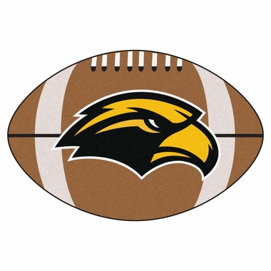 Southern Mississippi Football Shaped Rug