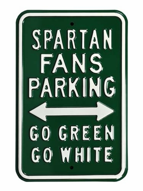 Spartan / Go Green / Go White Parking Sign