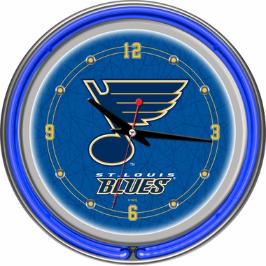 St Louis Blues 14 Inch Neon Clock