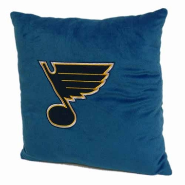 St Louis Blues 15 Inch Applique Pillow