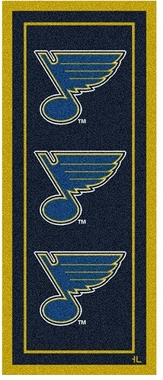 "St Louis Blues 2'1"" x 7'8"" Premium Runner Rug"