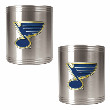 St Louis Blues 2 Can Holder Set