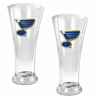 St Louis Blues 2 Piece Pilsner Glass Set