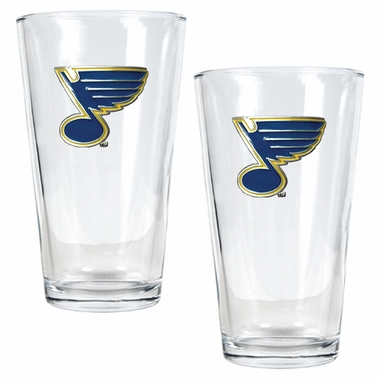 St Louis Blues 2 Piece Pint Glass Set