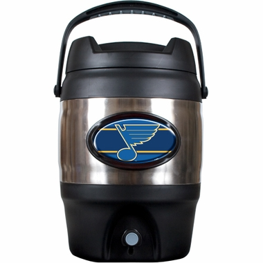 St Louis Blues 3 Gallon Stainless Steel Jug