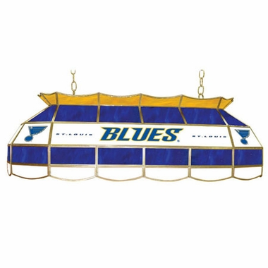St Louis Blues 40 Inch Rectangular Stained Glass Billiard Light