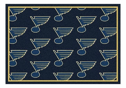 "St Louis Blues 5'4"" x 7'8"" Premium Pattern Rug"