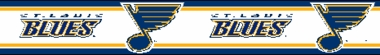 St Louis Blues 5.5 Inch (Height) Wallpaper Border