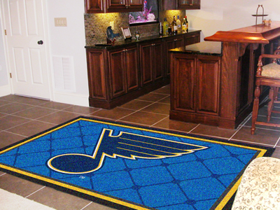 St Louis Blues 5 Foot x 8 Foot Rug