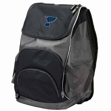 St Louis Blues Action Backpack (Color: Black)