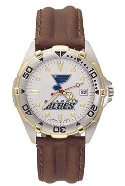 St Louis Blues All Star Mens (Leather Band) Watch