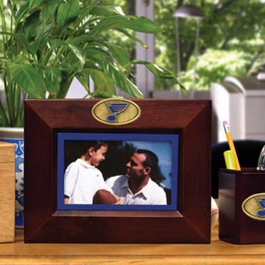 St Louis Blues BROWN Landscape Picture Frame