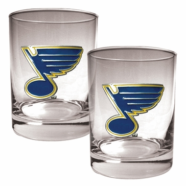 St Louis Blues Double Rocks Set