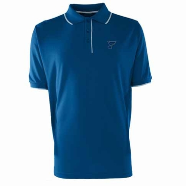 St Louis Blues Mens Elite Polo Shirt (Team Color: Royal)
