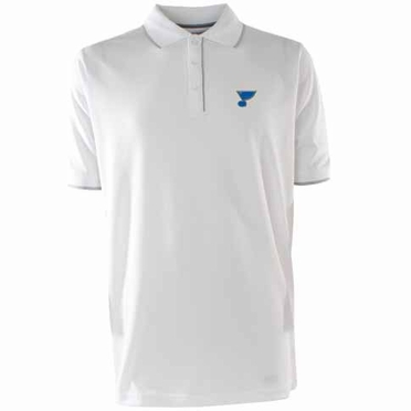 St Louis Blues Mens Elite Polo Shirt (Color: White)