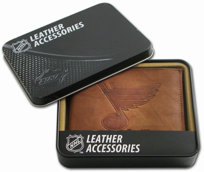 St Louis Blues Embossed Leather Bifold Wallet