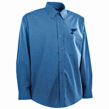 St Louis Blues Mens Esteem Button Down Dress Shirt (Team Color: Royal)