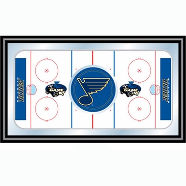 St Louis Blues Hockey Bar Mirror