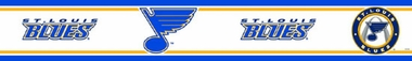 St Louis Blues Peel and Stick Wallpaper Border