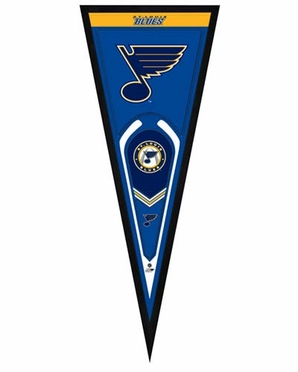 "St. Louis Blues Pennant Frame - 13"" x 33"" (No Glass)"