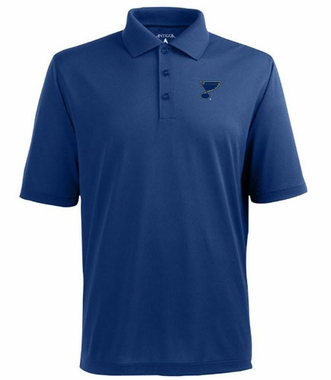 St Louis Blues Mens Pique Xtra Lite Polo Shirt (Color: Royal)