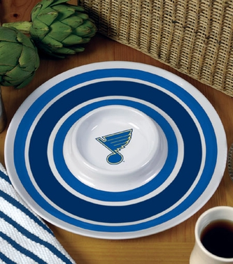 St Louis Blues Plastic Chip and Dip Plate