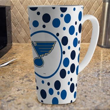 St Louis Blues Polkadot 16 oz. Ceramic Latte Mug