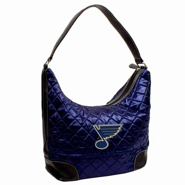 St Louis Blues Quilted Hobo Purse